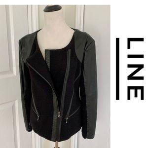 Line The Label Leather Jacket Blazer Coat Sweater
